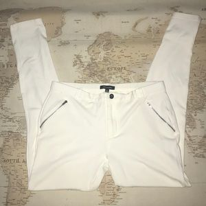 Shinestar White Skinny Jegging Pant with Zippers